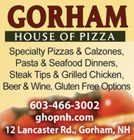 Gorham House of Pizza  Restaurant in Gorham, NH