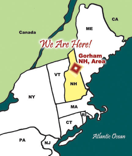 Gorham Nh In The Northern White Mountains Surrounded By The White